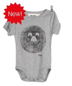 Bobo Choses grijze baby-body monster
