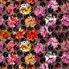Floral Dots AW by BethaniaLimaDesigns. Fall winter print, in trendy colors. Just in time for the autumn! Available as Royalty Free Stock License or Extended Stock License through @patternbank