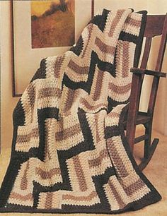 Ravelry: Earthtone Tiles Afghan pattern by Lion Brand Yarn