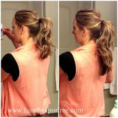 The long ponytail, step by step instructions