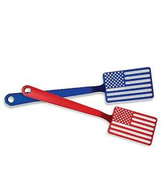 Fire up the grill and flip burgers with a red and blue spatula that celebrates the stars and the stripes.