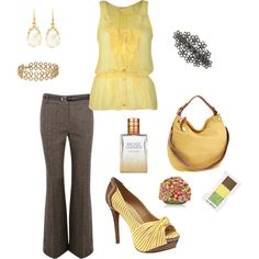 """""""yellows"""" by summerscf on Polyvore"""