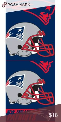 New England Patriots Beach Towel 28x58 Fully Licensed Beach Towel Brand new in bag with tag NFL Other