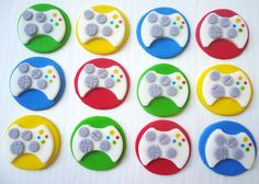 Fondant Cupcake Toppers - Video Game Controllers. $19.95, via Etsy.