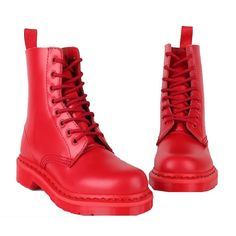 Dr. Martens Boots 1460 Red Store $125.00