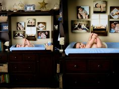6 piece baby photo collage - similar colors