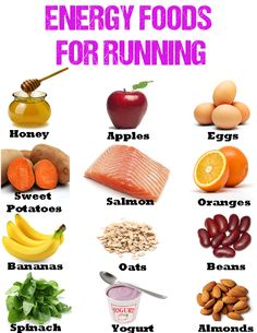 Energy foods for running – how to eat them in the right way