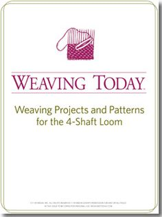 Discover new favorite free projects for your four shaft loom