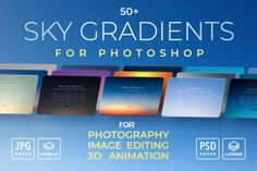 photorealistic sky overlays and customizable gradients for image editing in Adobe Photoshop CC & - perfect to replace any sky. Skies are rarely perfect Web Design Studio, Art Design, Graphic Design, Sky Photoshop, Snow Overlay, Write An Email, Winter Sky, Branding, Well Thought Out