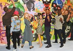 Will Smith, Adewale Akinnuoye-Agbaje, Joel Kinnaman, Jai Courtney, Margot Robbie, Cara Delevingne, and Karen Fukuhara at Suicide Squad (2016)