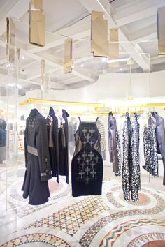 Lucite and gold bring life to the newly opened #Versace flagship store in SoHo #NYC