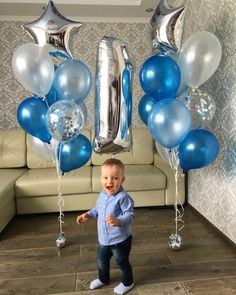 Baby Photoshoot Boy First Birthdays Balloons 15 Ideas For 2019 - Geburtstag Ideen Baby's First Birthday Gifts, First Birthday Balloons, Baby Boy 1st Birthday Party, Birthday Balloon Decorations, Man Birthday, First Birthdays, Happy Birthday, Baby Boy Balloons, Baby Boy Decorations
