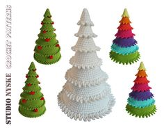 Crochet Christmas tree 3 different holiday di StudioNyske su Etsy