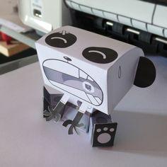 FREE printable sad panda paper toy