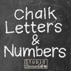 Buchstaben und zahlen 75 Elemente von StudioDenmark auf Etsy