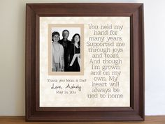 Graduation Custom Picture Frame for Parents   by framedaeon