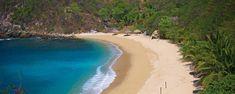 Bahía de la Luna: Una playa con aire de isla perdida en Oaxaca. Ubicada en la costa del Pacífico oaxaqueño, esta joya -de origen coralino y arenas color crema-, es ideal para quienes buscan descansar, nadar y esnorquelear en medio de la vegetación.