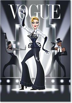 Madonna MDNA Vogue art work by Glen Hanson Madonna Vogue, Madonna Art, Lady Madonna, Funny Birthday Cards, Birthday Greeting Cards, Birthday Greetings, Funny Caricatures, Celebrity Caricatures, Madona