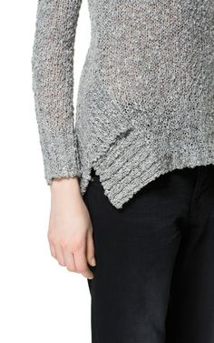 SWEATER WITH RIBBED SIDES - Knitwear - Woman - ZARA Canada