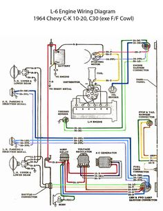 64 chevy c10 wiring diagram chevy truck wiring diagram 64 electric l 6 engine wiring diagram