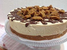 VÍKENDOVÉ PEČENÍ: Nepečený cheesecake se sušenkovým máslem