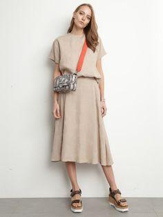 リネンセットアップスカート(膝丈スカート)|Mila Owen(ミラ オーウェン)|ファッション通販|ウサギオンライン公式通販サイト
