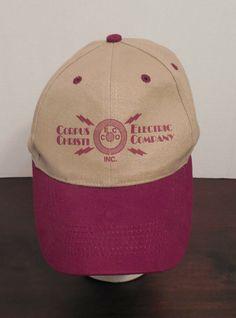 a15b2716a2bda Corpus Christi Texas Electric Co VIntage Adjustable Red Tan Trucker Cap Hat   Vitronic  BaseballCap