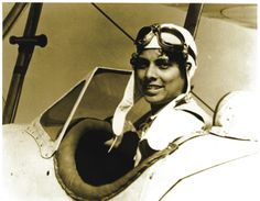 "Willa Brown, featured in ""Black Wings: American Dreams of Flight,"" was an American pilot. She was the most visible representative of the Chicago Challengers Air Pilots' Association and the most active African American flying club in the 1930s. Photo courtesy Von Hardesty. http://www.sites.si.edu/exhibitions/exhibits/blackWings/index.htm #aviation #pioneers"