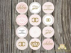 Chanel Themed Party Circles by blush printables, via Flickr