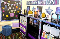 Our Galaxy Scalloped Borders will add a stylish touch to classroom displays, message boards, bulletin boards, and more. Space Theme Classroom, Classroom Displays, Future Classroom, Classroom Decor, Classroom Board, Bulletin Board, Teal Centerpieces, Wood Box Centerpiece, Bulletin Borders