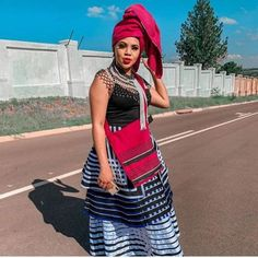 LOVELY XHOSA DRESSES not only are beautiful but believed to boost a ladies confidence an event, IT can make a lady feel glamorous African Traditional Wear, Traditional Fashion, Traditional Outfits, Traditional Styles, Traditional Wedding, African Attire For Men, African Wear Dresses, African Clothes, African Men