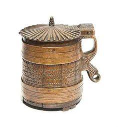 A Norwegian Oak Coopered Tankard late 18th century
