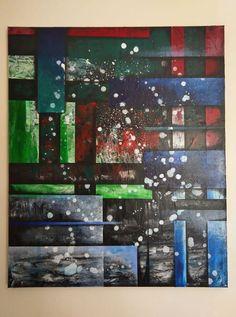 Original Contemporary Abstract Painted Canvas ' In Motion ' Painted Canvas, Hand Painted, Tree Of Life Necklace, Beautiful Soul, Original Art, Rainbow, Contemporary, The Originals, Abstract