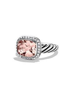 David Yurman - Noblesse Ring with Morganite and Diamonds