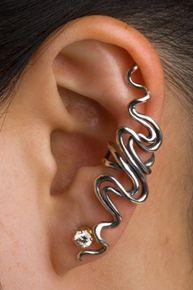 Sidewinder Ear Cuff Silver