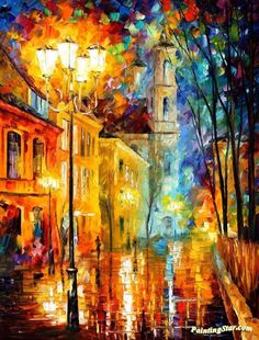 City of angels Artwork by Leonid Afremov