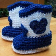Boots free crochet graph pattern by Kathy Garza
