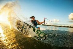 Wakeboarding boat.
