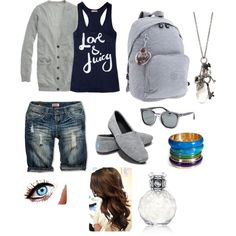 school clothes, created by haileysamanthaedens on Polyvore