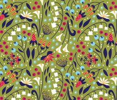 Garden Blooms - sammyk - Spoonflower