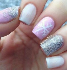 Sparkle nails pink - shiny, #argent