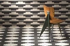 Malmo subway cement tiles in color Zebra #MoodBoard