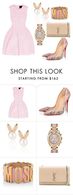 """""""Untitled #133"""" by smooney019 on Polyvore featuring Simone Rocha, Christian Louboutin, Aamaya by priyanka, Michael Kors, Moschino and Yves Saint Laurent"""