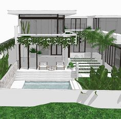 Mon Palmer Landscape Design, Garden Design, Palmer House, Small Pools, Swimming Pools Backyard, Home Landscaping, Outdoor Areas, Pool Houses, Gardens