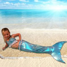 Obedient New Style Kids Mermaid Swimsuit Mermaid Tails Clothing Swimwear Girls Bikini Mermaid Tail And Finned Swimsuit Mother & Kids