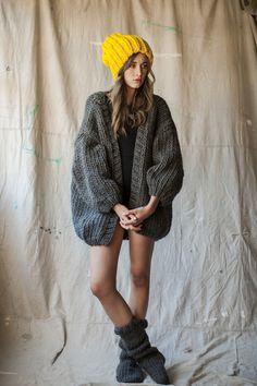 The Cardigan - LOVE this huge oversized cardi. And who wouldn't love to buy something from a company named, Mr. Mittens!