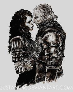TWH+-+Yennefer+and+Geralt+by+JustAnoR.deviantart.com+on+@DeviantArt