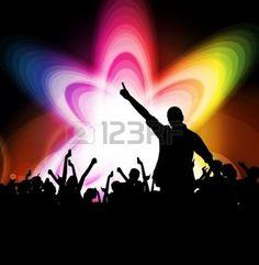 Multitud de personas bailando Clubbing j�venes photo