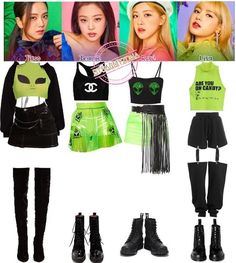 Kpop Fashion Outfits, Stage Outfits, Edgy Outfits, Dance Outfits, Grunge Outfits, Girl Outfits, Cute Outfits, Jennie Lisa, Sims
