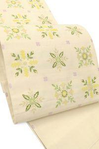 【杉村織物】 創作西陣手織り紬袋帯 「花野装飾」